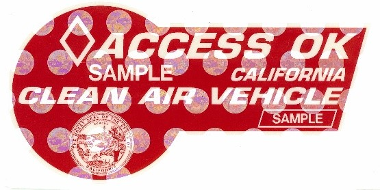 Vehicles That Meet Clean Air Exhaust Standards Are Eligible For A Red Cav Decal Which Is Valid Until January 2019